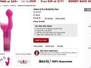 एडम और ईव पर बिक्री $ 9.98 केवल सस्ते सेक्स खिलौना के लिए तितली चुंबन थरथानेवाला