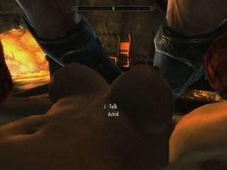 Skyrim: एस्ट्रिड के साथ सेक्स (उसके पति को उसकी वफादारी का परीक्षण)