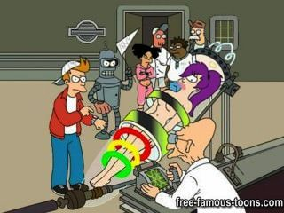 Futurama बनाम Jetsons कार्टून पॉर्न पैरोडी
