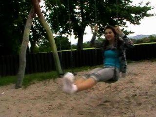 पार्क में पैर