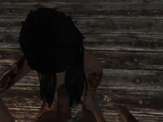 Skyrim बेब मेगन फॉक्स बेकार है और आप fucks