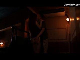 जापानी प्रेमिका फिल्म के दौरान कामुक