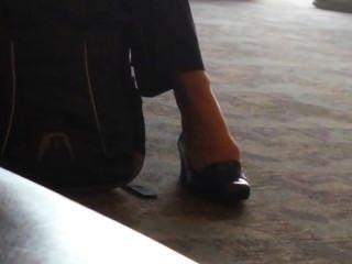 खरा व्यापार लेडी अटलांटा हवाई अड्डे feet- Shoeplay
