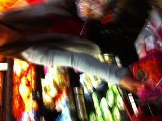 सुपरमार्केट में Busty milf