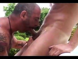 पिता और बेटे के बगीचे में बकवास