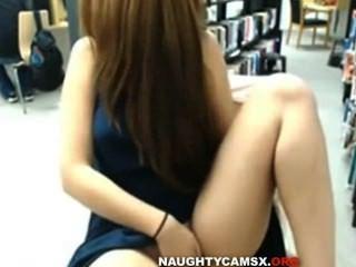 पुस्तकालय शो वेब कैमरा लड़की बहुत सेक्सी