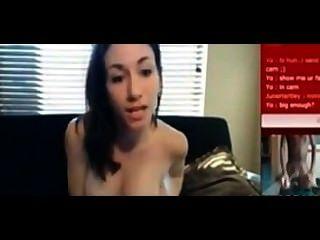 सेक्सी सफेद किशोरों मेरा बड़ा काला डिक करने के लिए masturbates