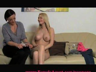 महिला एजेंट बड़े स्तन कास्टिंग