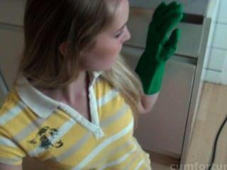 गुलाब खुशी के रसोई घर में उसे सह खुराक हो जाता है