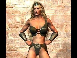 3 डी मिश्रित कुश्ती अमेज़न पुरुषों और जीव लड़ाई