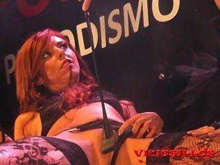 viciosillos द्वारा मंच पर बियांका RESA Y डेनिएला इवांस 3some की तैयारी