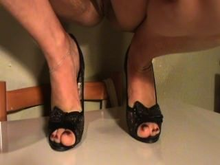 पैर के जूते में मेरी पत्नी परिपक्व