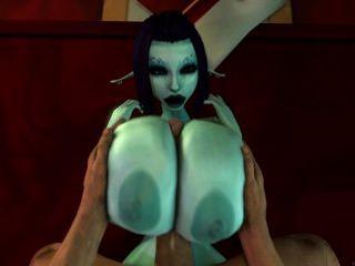 सोरिया गड़बड़ उसके स्तन हो जाता है!3 डी