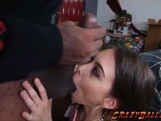 भव्य सींग लड़की रिले रीड एक बड़ा डिक कमबख्त