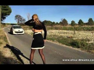 सेक्सी और सड़क पर नग्न