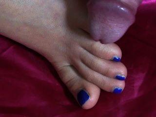 3 cumshot - एकमात्र, पैर की अंगुली, जूता