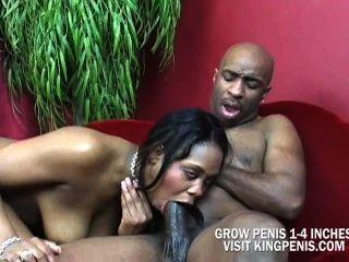 बड़े स्तन ब्राउन शुगर के पीछे से गड़बड़ हो जाओ और एक क्रीम पाई के लिए मिला