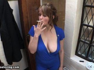 लुईस धूम्रपान नीले downblouse 2
