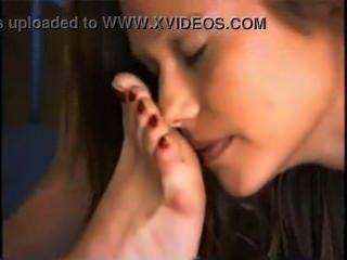 किशोरों की लड़की पूजा परिपक्व मालकिन पैर