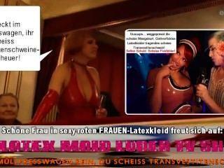 सेक्सी latexkleid Frau scheiss transvestitenschweine totpressen और verbrennen