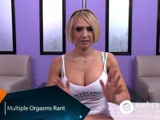 लाइव शो साक्षात्कार कई orgasms, Kagney karter