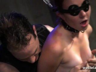 साथ स्वामी सेक्स खिलौने जंजीर आंखों पर पट्टी गुलाम दिया orgasms