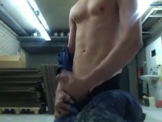 अद्भुत शौकिया बालक काम जगह में cums