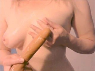 titties अपने dildo बकवास
