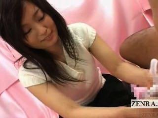 उपशीर्षक सीबीटी जापान कार्यालय महिला साबुन handjob साक्षात्कार