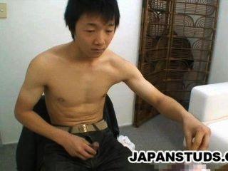 Ryoji Tomita - प्यारा निप्पॉन लड़का अपने कठोर मुर्गा रगड़
