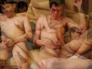 पांच थाई लड़कों के साथ मरोड़ते