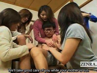 सबटाइटल जापानी Milfs की और Cougars सीबीटी छात्र के अन्त: पुर