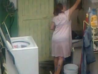जासूसी चाची गधा धोने ... बड़े बट plumper माँ मोटा