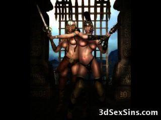 बदसूरत ogres 3 डी लड़कियां बकवास!