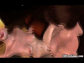 लोमड़ी की तरह 3 डी कार्टून गोरा मुर्गा बेकार है और गड़बड़ हो जाता है