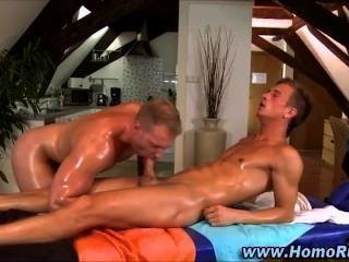 straighty ज़ोर से बंद गधा masseurs