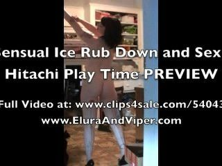 सेक्सी बर्फ रगड़ नीचे और Hitachi खेलने के लिए समय पूर्वावलोकन