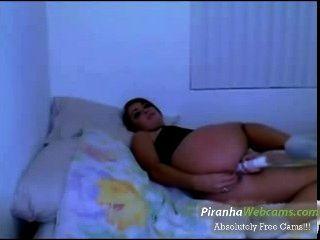वेबकैम पर horniest लैटिना लड़की किशोर