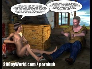 किराए पर लेने के लिए 3 डी समलैंगिक एनिमेटेड कार्टून कॉमिक्स या कॉलेज के लड़के पहली बार सेक्स के लिए कमरे