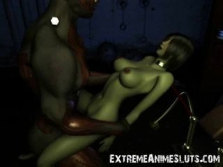 3 डी चौंकाने वाला scifi सेक्स!