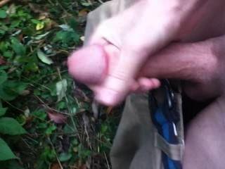 जंगल में masterbating