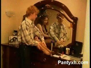 मोहक Pantyhose किशोर XXX Makeout
