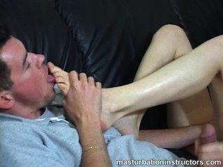 पैर बुत प्रोत्साहन / हस्तमैथुन अनुदेश संकलन बंद झटका!