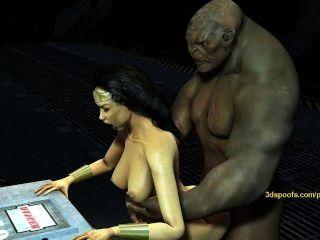 Wonderwoman भारी ट्रोल डिक द्वारा गड़बड़ हो जाता है