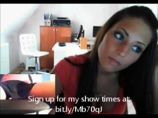 वेबकैम पर यूरो लड़की