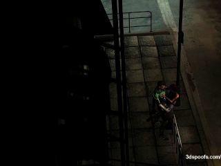 हरी latern और कट्टर प्रकाश स्ट्रीट लाइट के नीचे एक छोटे शरारती मिलता है