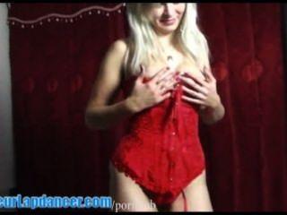 लाल अधोवस्त्र में संचिका Sexbomb lapdances