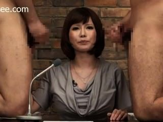 जापानी समाचार लंगर चेहरे सह हो जाता है