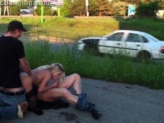 चौंकाने वाला सार्वजनिक सड़क समूह सेक्स गैंगबैंग नंगा नाच भाग 4