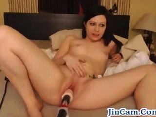 सेक्स मशीन गर्म शो के साथ लाइव camgirl बकवास